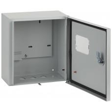 Корпус металлический 1/1-0-76 IP54 1 дверь замок окно 310х300х150 ЭРА