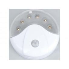 Светильник с датч/движения Облик 5033 6св/д белый/пластик 2 режима (3xR6)