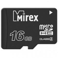 Флэш-карта MicroSDHC 16Gb б/адаптера class10 MIREX
