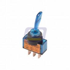 Тумблер 12В 20А (3c) ON-OFF однополюсный с синей подсветкой (ASW-13D) Rexant