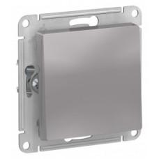 ATLASDESIGN Выключатель одноклавишный алюминий Schneider Electric