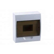 ЩРН–П-6 бокс белый корпус ABS-пластик дверца PC прозрачнвя черная IP41 T-plast