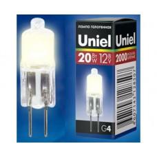 Uniel JC G4 12V 20W прозрачная JC-12/20/G4 CL