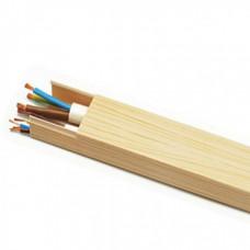 Кабель-канал 12х12 ПВХ с текстурой дерева сосна 3D 2м T-plast