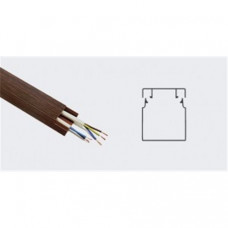 T-plast кабель-канал ПВХ 12х12 с текстурой дерева 3D ВЕНГЕ 2м (цена за 1м) 50-01-011-0001