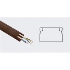 T-plast кабель-канал ПВХ 20х10 с текстурой дерева 3D ВЕНГЕ 2м (цена за 1м) 50-01-011-0004