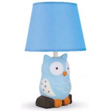 Светильник настольный KD-551 C13 40W E14 Совенок голубой керамика Camelion