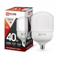 ASD/InHome высокомощн. E27 40W (3600lm) 6500К 6K 230V с адаптером E40 181x100 HP-PRO 1101
