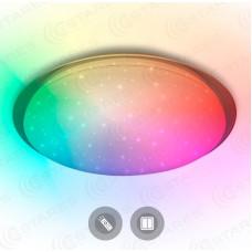 Estares св-к накладной св/д Saturn R RGB 60W(4900lm) 2K-4K-6K d460x58 IP44 пульт ДУ без канта 536182