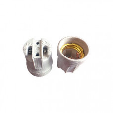Патрон керамический E27 Белый AB7SCWEAY Ecola