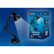 Светильник настольный TLI-221 60W E27 металл черный, подставка+струбцина Uniel
