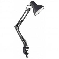 Светильник настольный UF-312P С02 60W E27 металл черный, струбцина Ultraflash