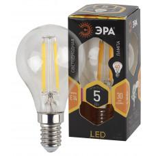 Лампа светодиод.ШАР 5Вт E14 2700K F-LED P45-5w-827-E14 ФИЛАМЕНТ ЭРА