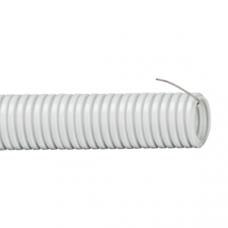 Труба гофр.ПВХ 16 мм с протяжкой легкая серая (100м) DKC