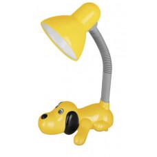 Светильник настольный KD-387 С07 желтый Собака 40Вт Camelion
