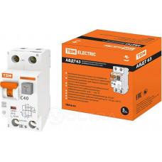 TDM АВДТ 63 2P C40 дифф. автоматический выключатель 30мА (6!) SQ0202-0006