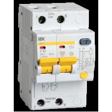 Выключатель диф. тока АД12 2Р B16 30мА IEK