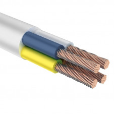 Провод ПВС 4х1,5 мм² 100 м белый ГОСТ