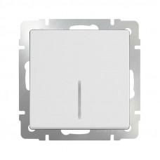 Модуль выключателя WERKEL 1кл. белый подсветка (10)