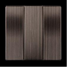 Модуль выключателя WERKEL 3кл. серо-коричневый (10)